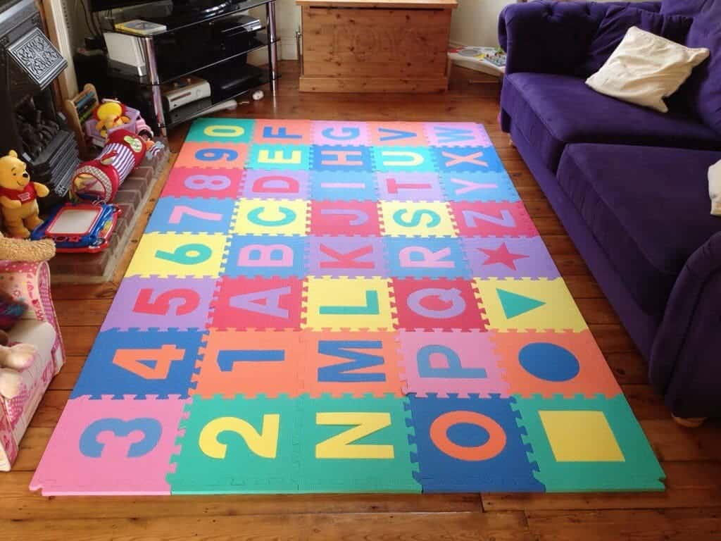 Review soft floor kids foam playmats what the redhead said for Floor kids review