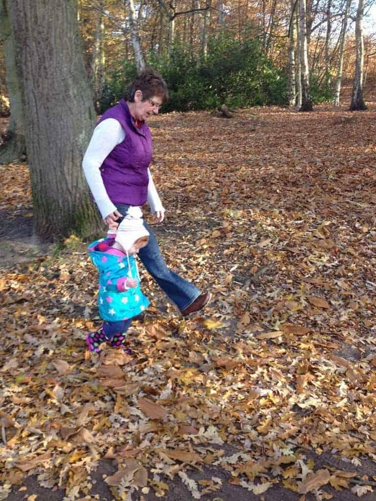 Kicking Up Leaves