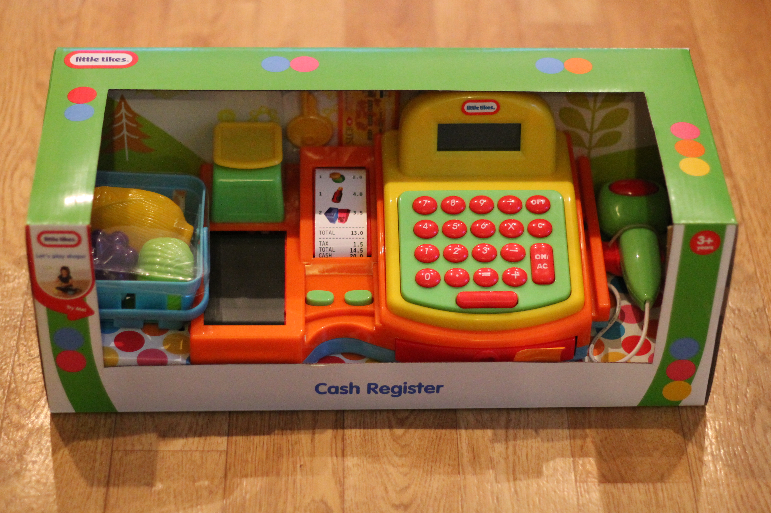 Little tikes cash register - The Little Tikes Cash Register Has So Many Accessories With It A Basket Of Play Food Play Money A Key And A Credit Card