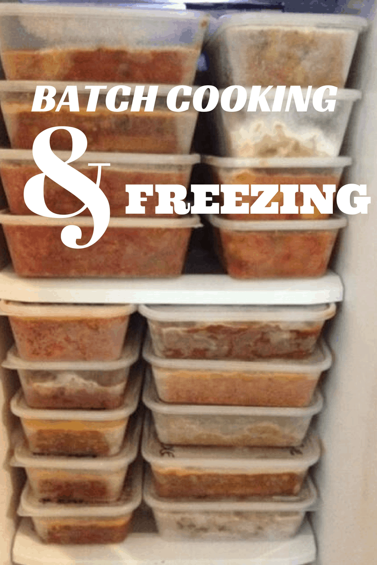 Batch Cooking and Freezing