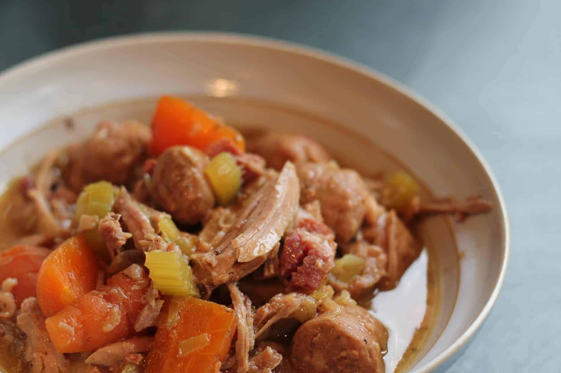 Slow Cooker Turkey and Sausage Stew
