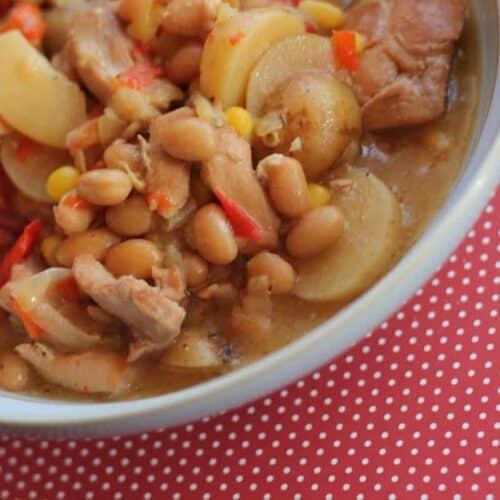 Slow Cooker Chicken & Haricot Bean Stew