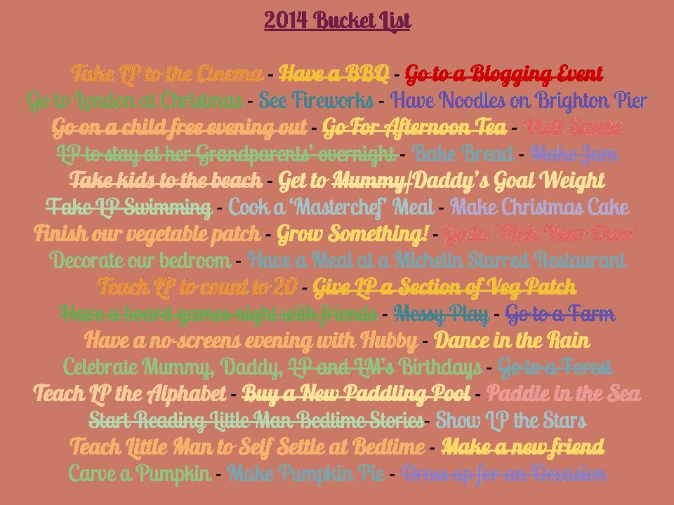 Bucket List Update {September 2014}