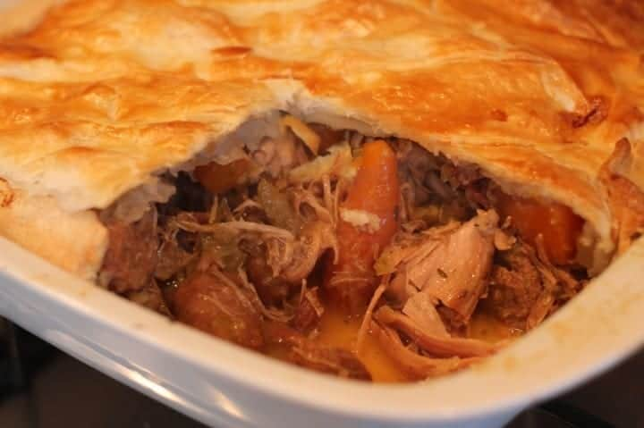 Slow Cooked Turkey, Sausage and Bacon Pie Recipe