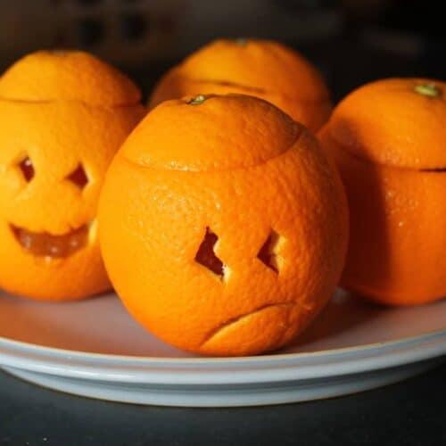 Halloween Jelly Oranges
