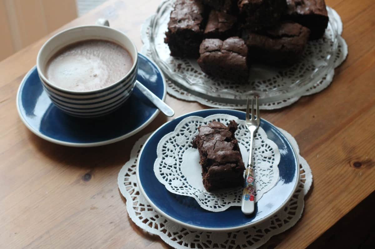 Chocolate Brownie with White Chocolate Chips Recipe