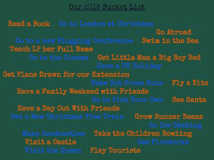 Our Bucket List {2015}
