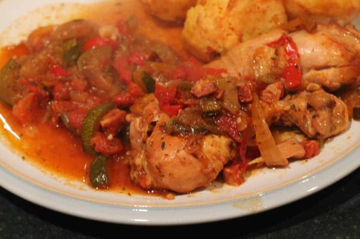 Slow Cooker Chicken and Chorizo Casserole
