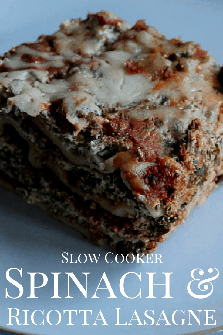 Slow Cooker Spinach and Ricotta Lasagne Recipe