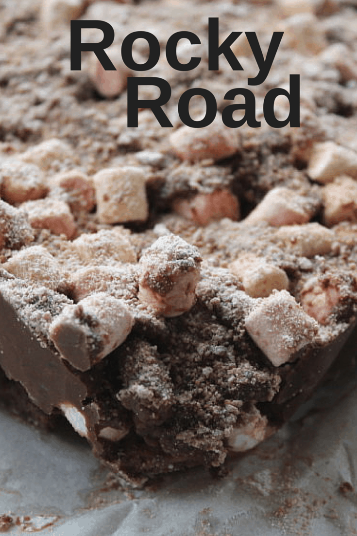 Rocky Road Recipe {Baking with Choc Nibbles}