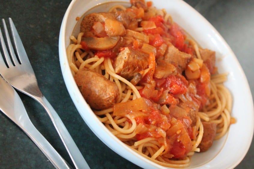 Slow Cooker Sausage Tagliatelle Recipe