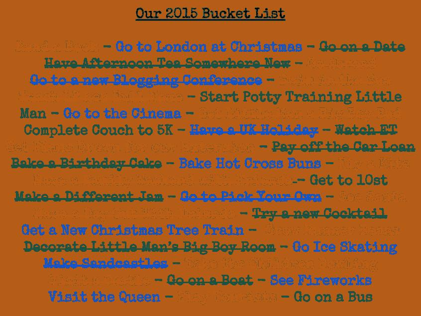 Bucket List Update {July 2015}