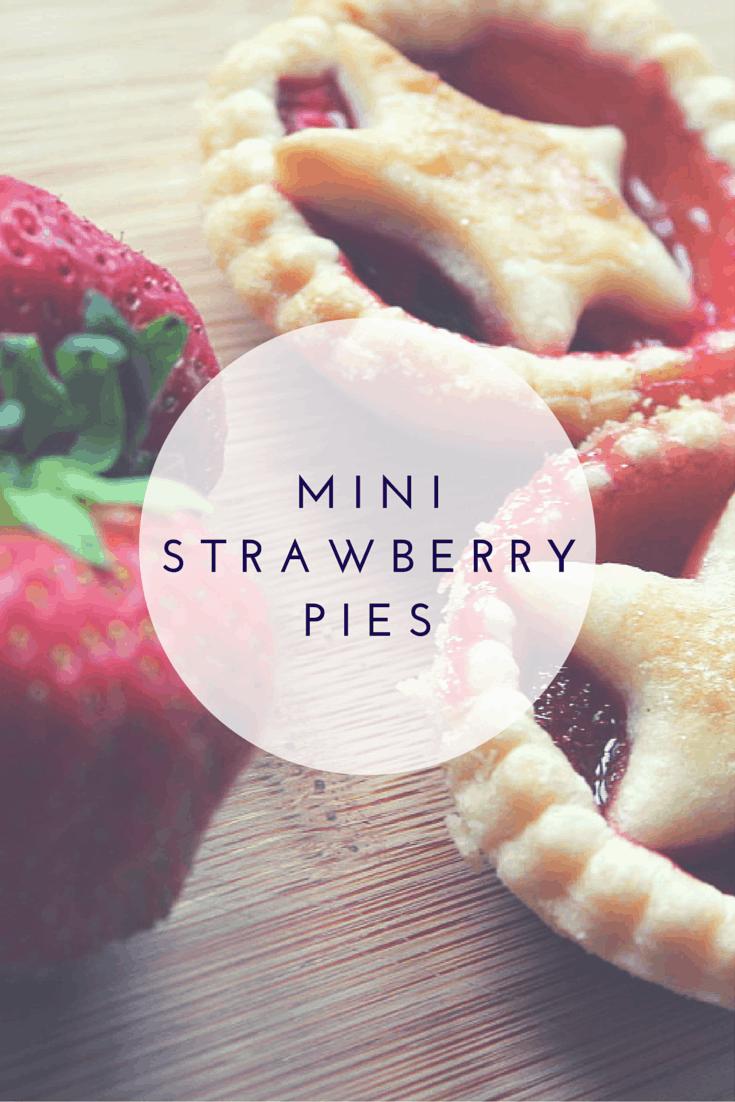 Christmas Inspired Mini Strawberry Pies