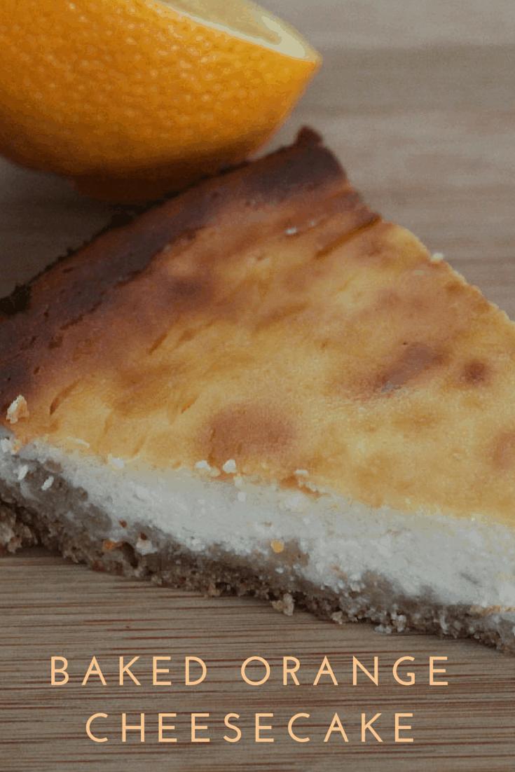 Baked Orange Cheesecake Recipe