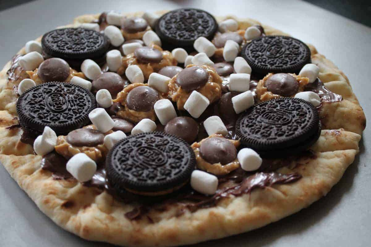Peanut Butter Oreo S'mores Pizza Recipe