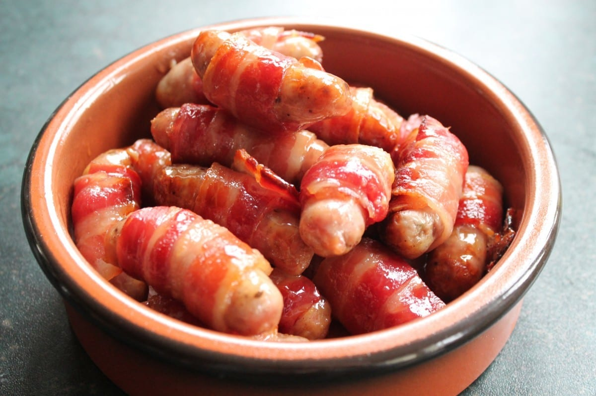 Christmas Food Traditions - Maple Glazed Pigs in Blankets