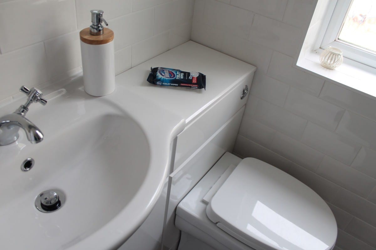 Getting our Bathroom Ready for Christmas with Domestos