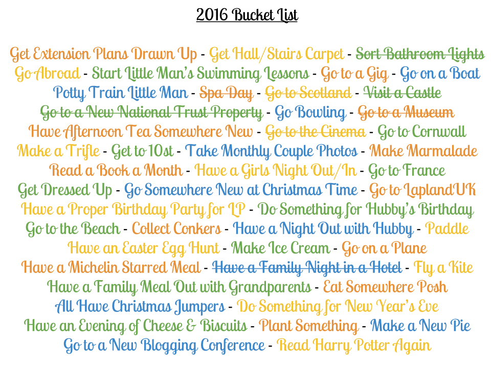 Our 2016 Bucket List Update {February}
