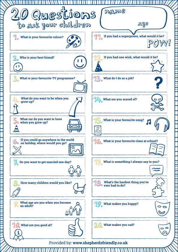 How Would Your Children Answer These 20 Questions?