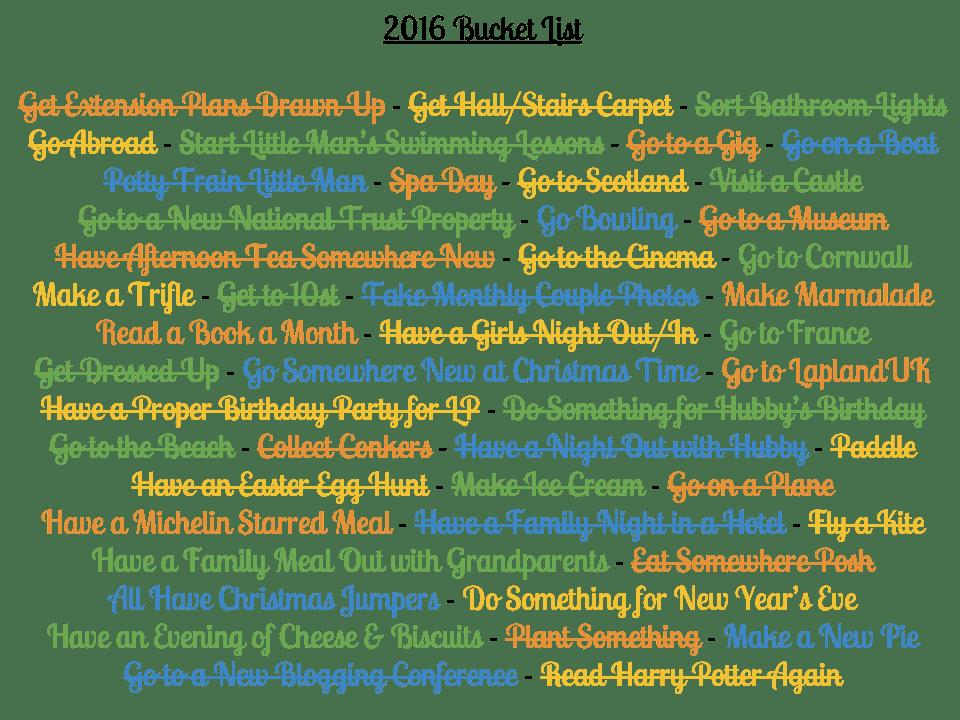 Bucket List Update {November 2016}