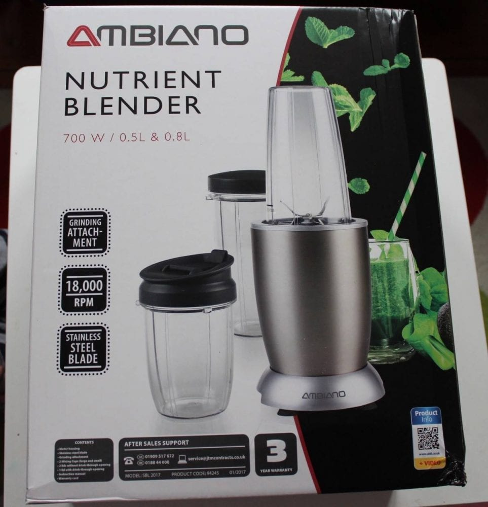 review aldi ambiano nutrient blender what the redhead said. Black Bedroom Furniture Sets. Home Design Ideas