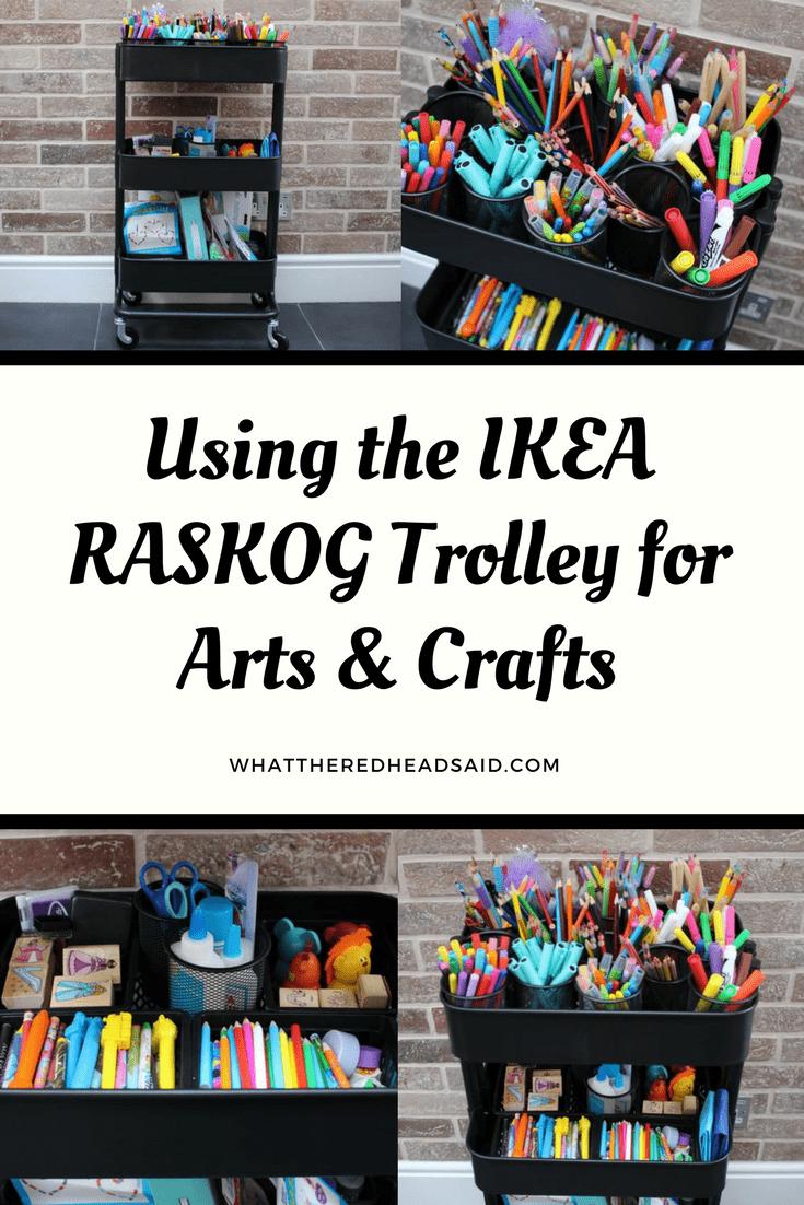Using the IKEA RÅSKOG Trolley for Arts & Crafts