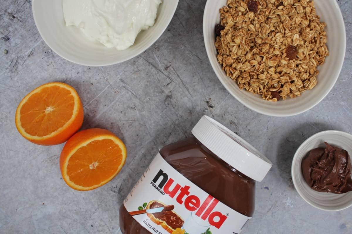 Recipe: Chocolate Orange Granola Pots with Nutella