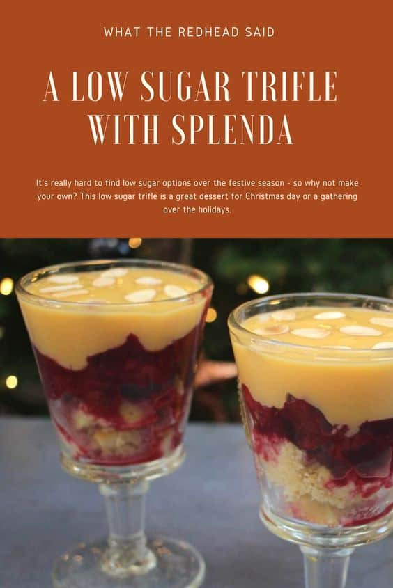 A Low-Sugar Festive Trifle with Splenda Recipe