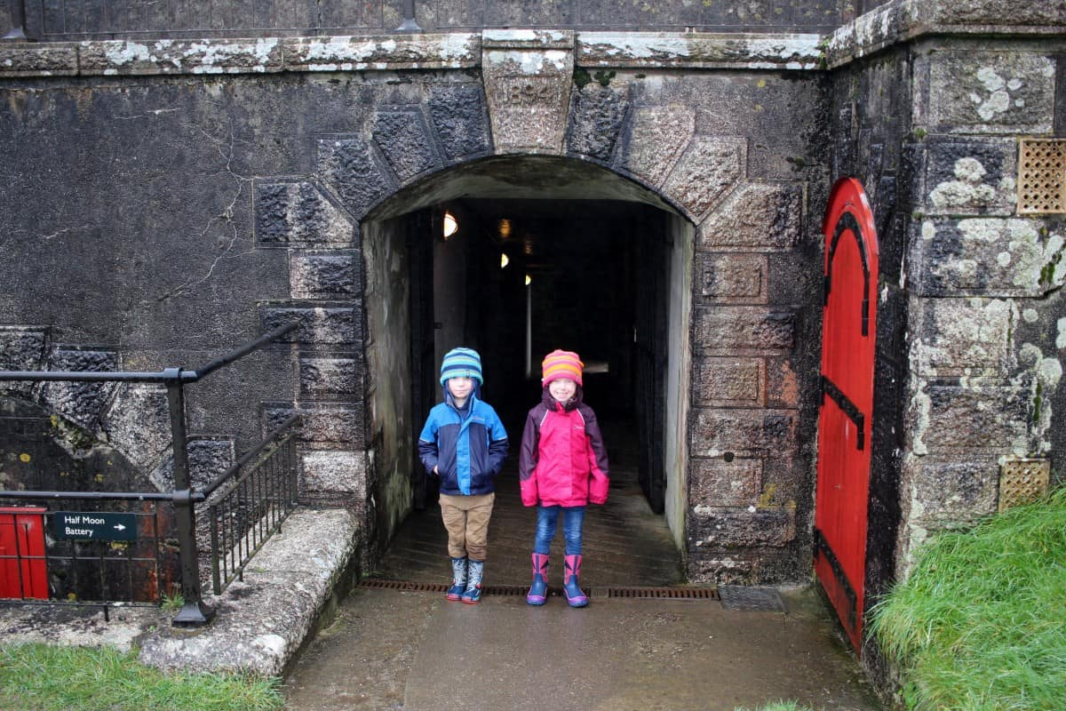 A very wet trip to Pendennis Castle {English Heritage}