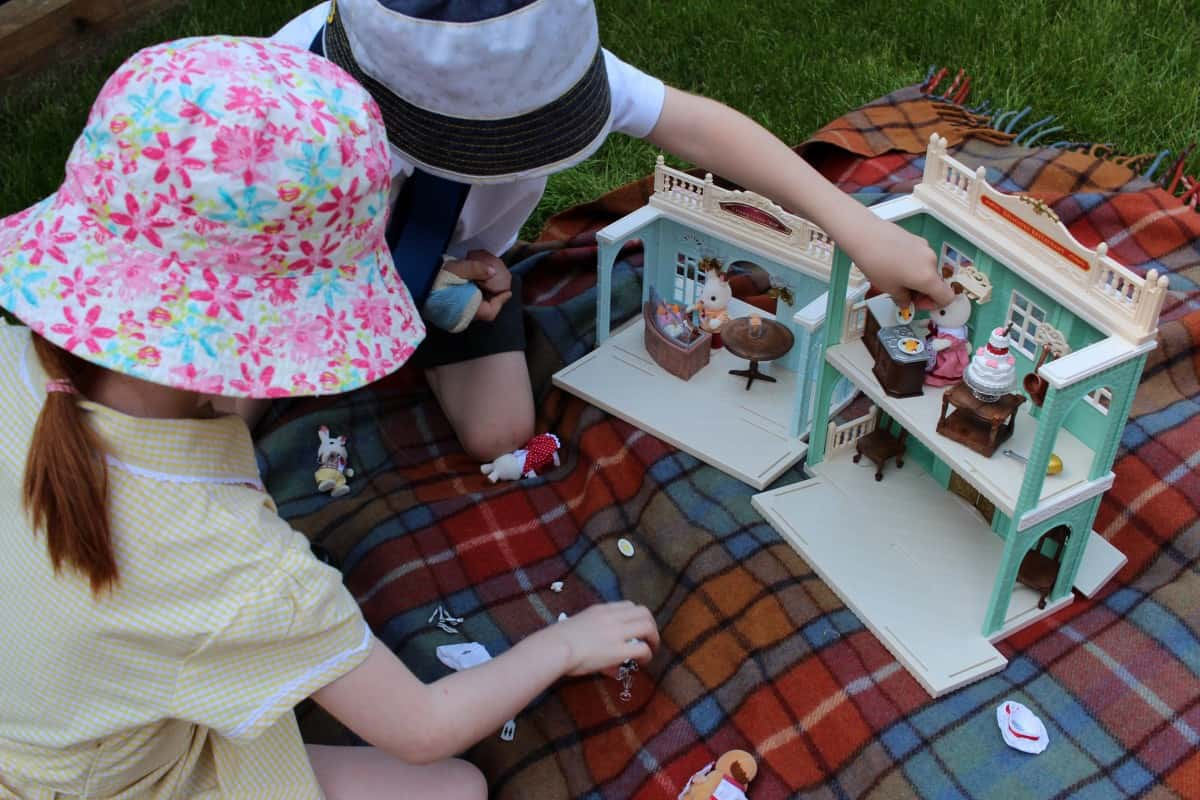 Introducing the Children to Sylvanian Families