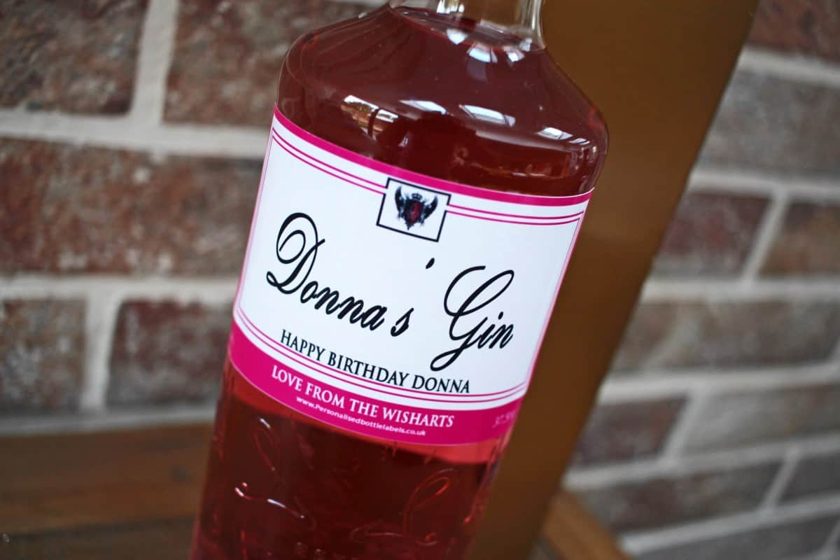 Personalised Gin from Personalised Bottle Labels
