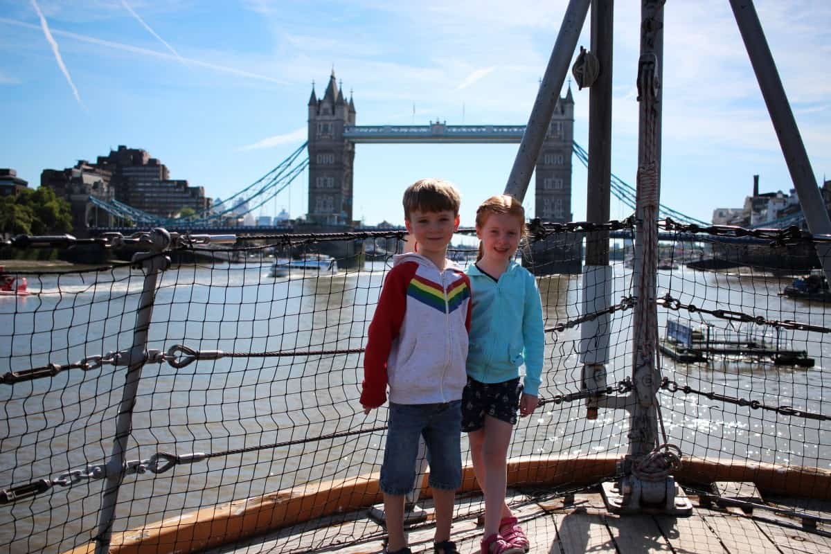 A Family Trip to HMS Belfast, London