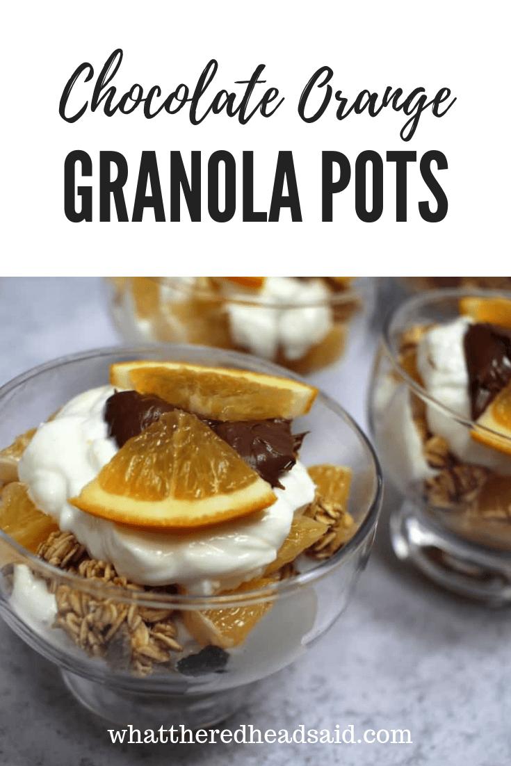 Chocolate Orange Granola Pots with Nutella Recipe