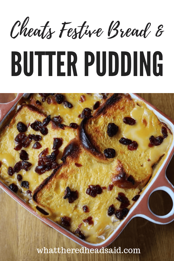 Cheats Festive Brioche Bread and Butter Pudding