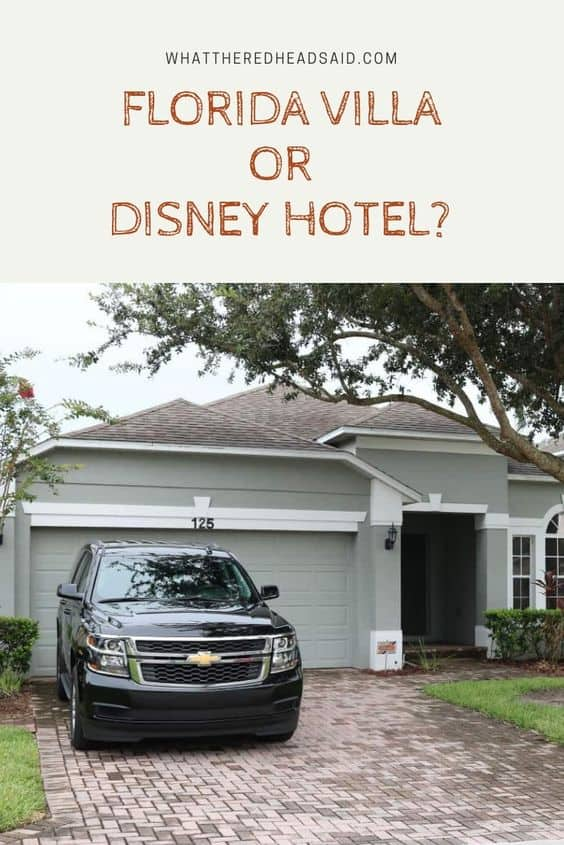 Our reasons for choosing a Villa in Florida over a Disney Hotel