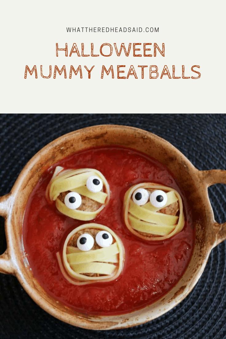 Halloween Food Ideas: Mummy Meatballs