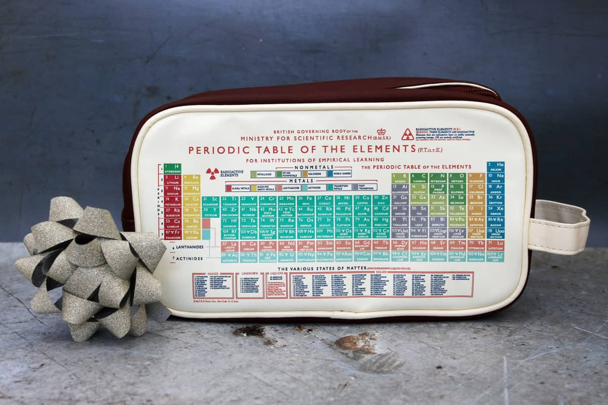 Father's Day Gift Guide Periodic Table Wash Bag