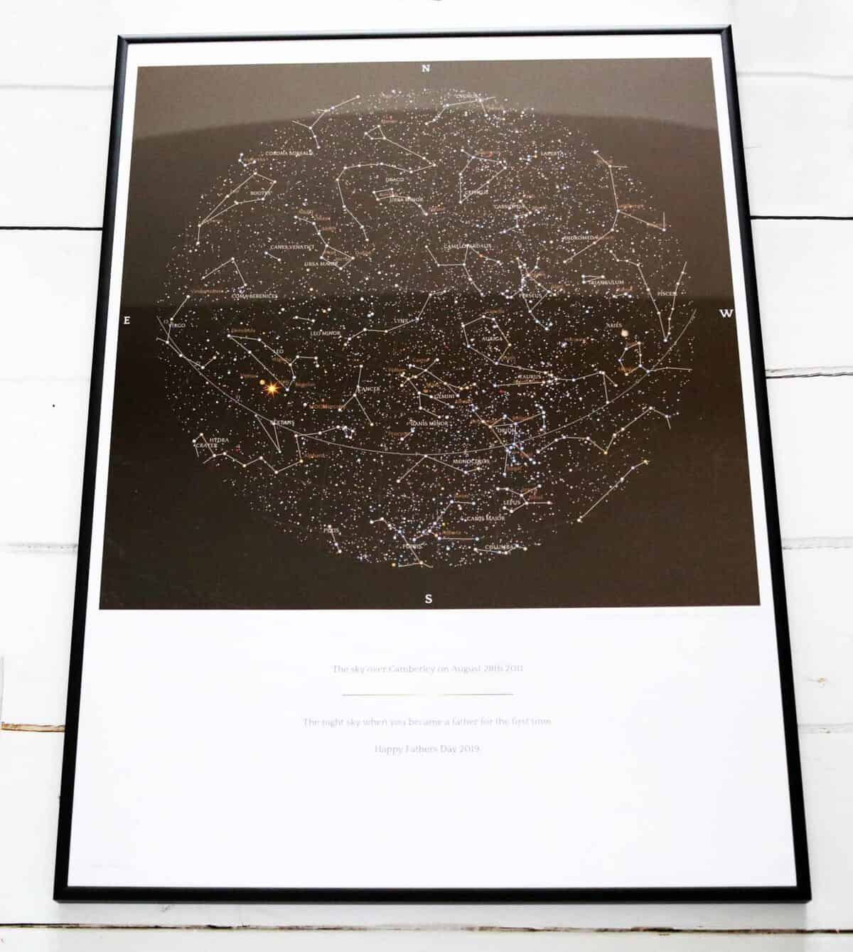 Father's Day Gift Guide GreaterSkies Star Map