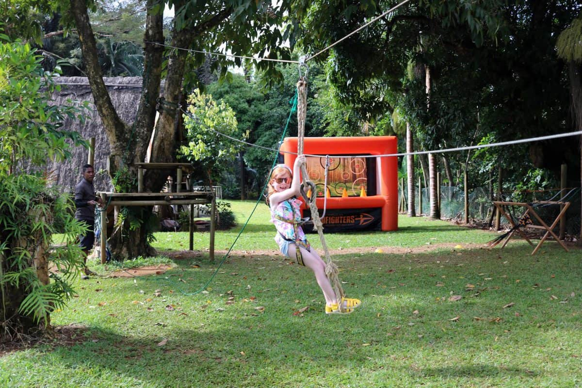 A Morning at TerrOcean Le Domaine de l'Etoile Mauritius - Zip Line