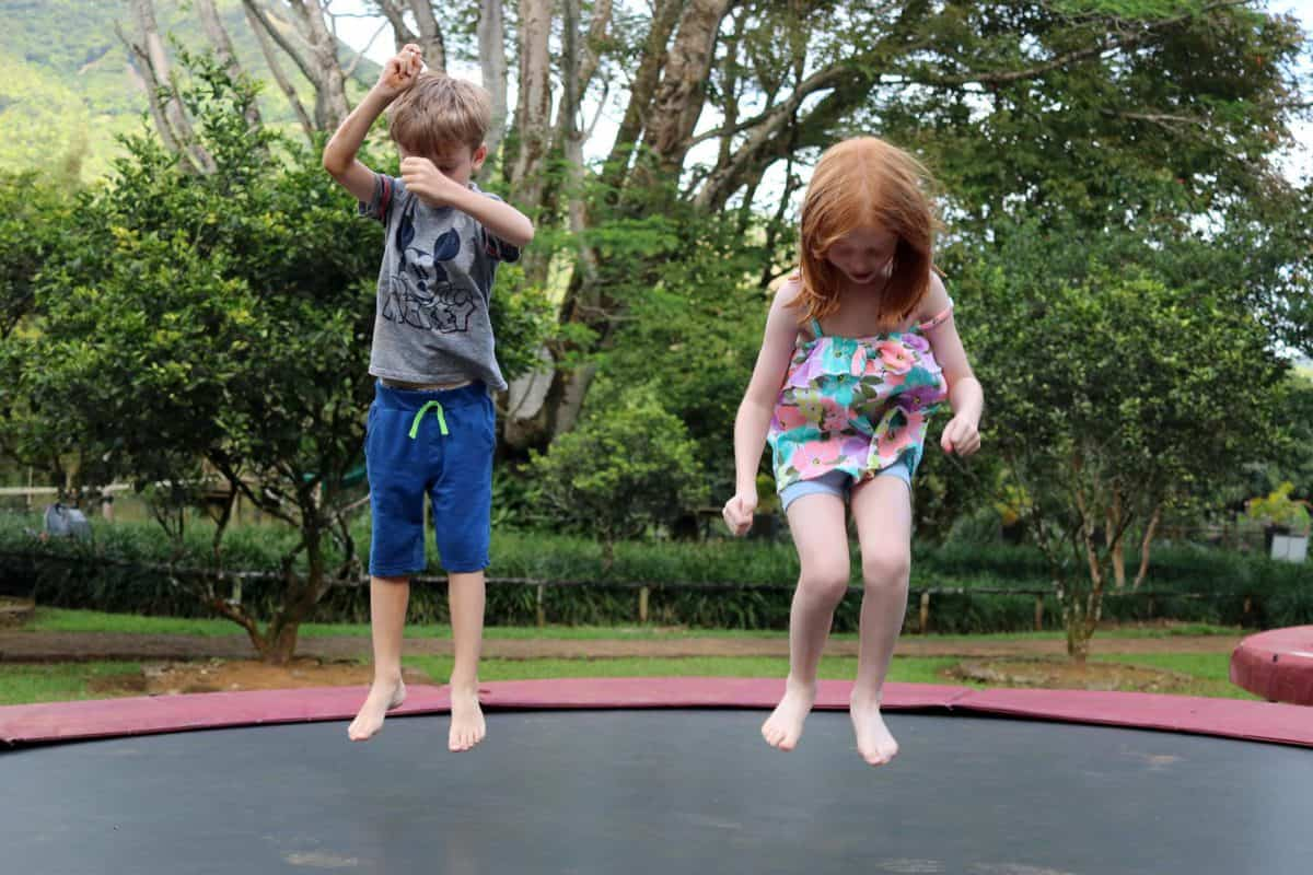 A Morning at TerrOcean Le Domaine de l'Etoile Mauritius - Trampoline