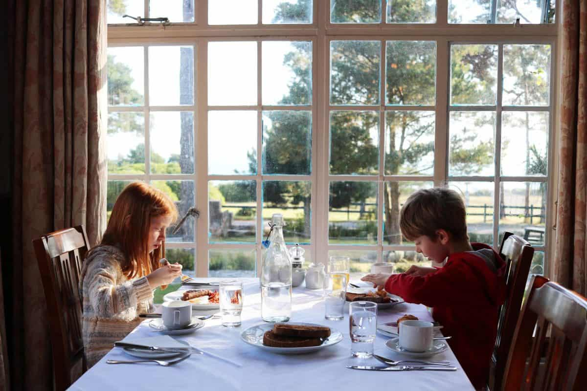 A Family Weekend at Knoll House Hotel Dorset - Dining Room Breakfast