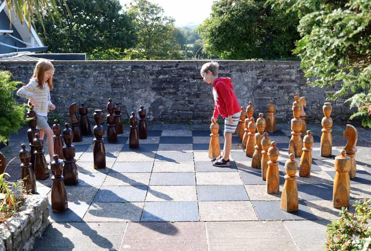 A Family Weekend at Knoll House Hotel Dorset - Giant Chess