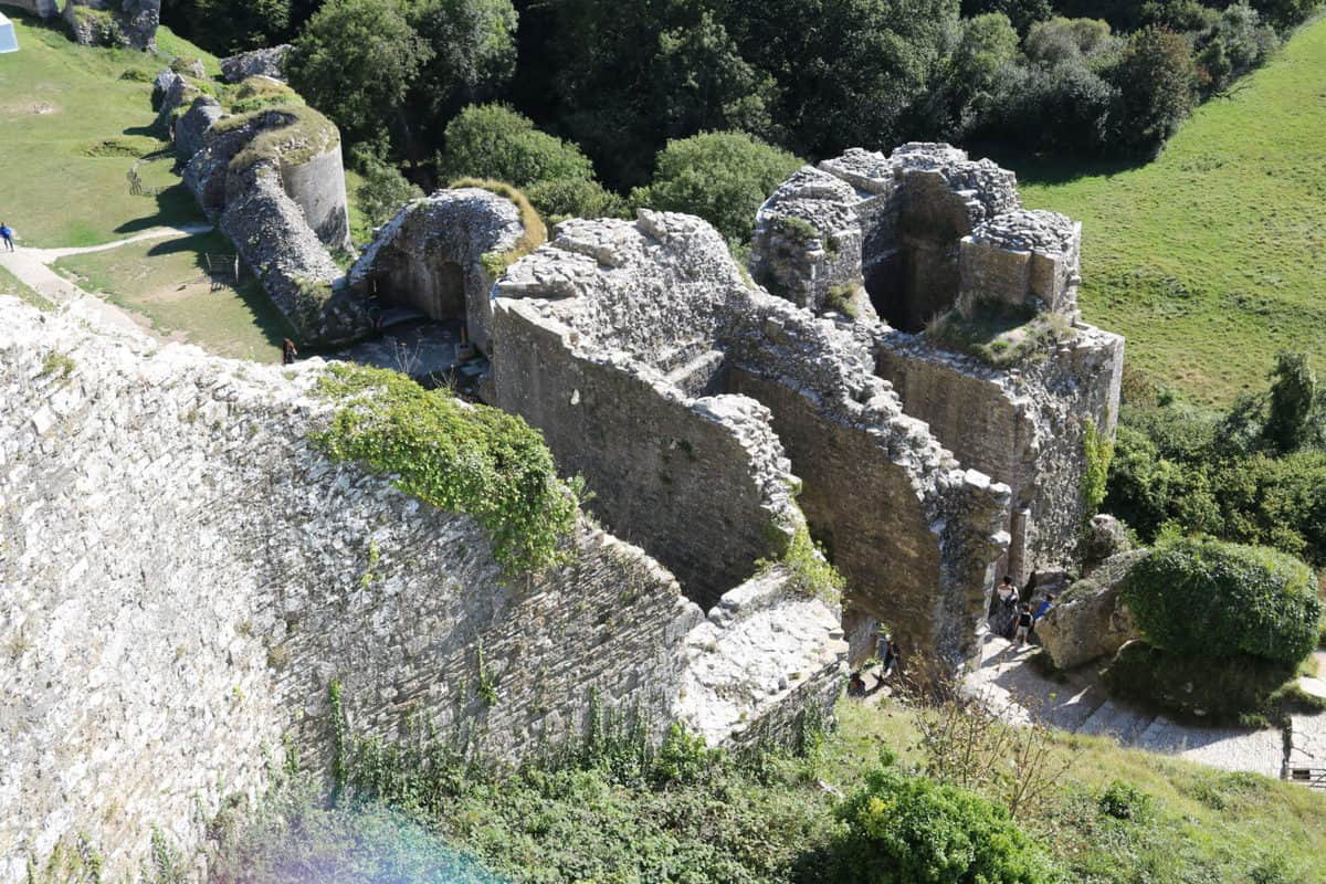 Visiting Corfe Castle, Dorset - National Trust ruins