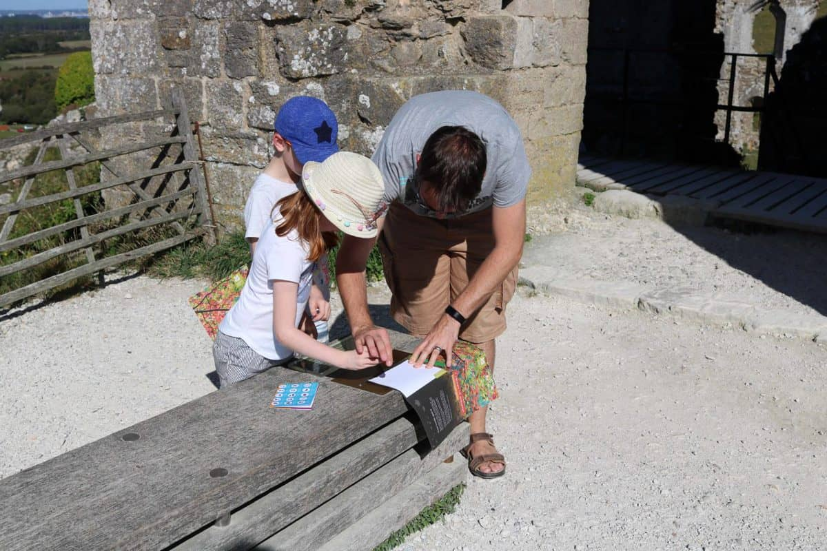 Visiting Corfe Castle, Dorset - National Trust trail