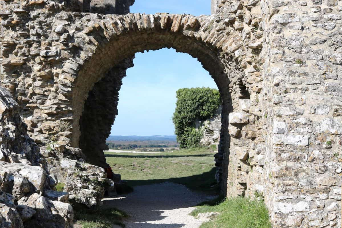 Visiting Corfe Castle, Dorset - National Trust archway
