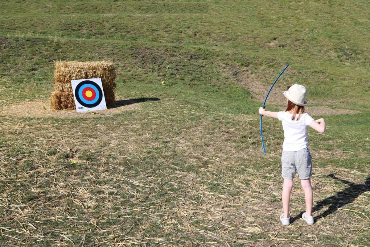 Visiting Corfe Castle, Dorset - National Trust archery