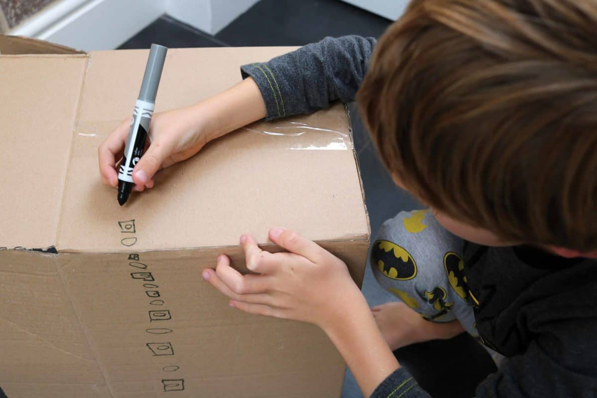Ten Fun Things To Do After School - cardboard box creation