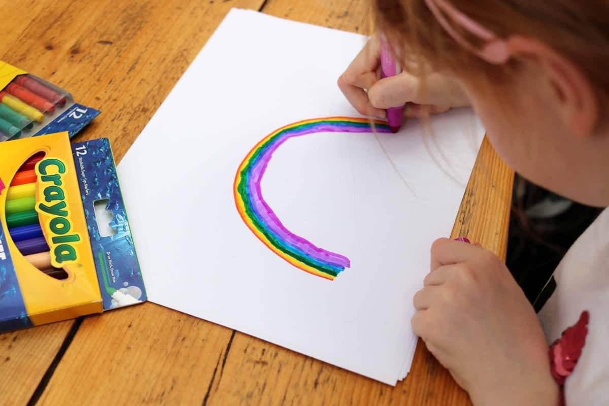 Ten Fun Things To Do After School - colouring rainbows
