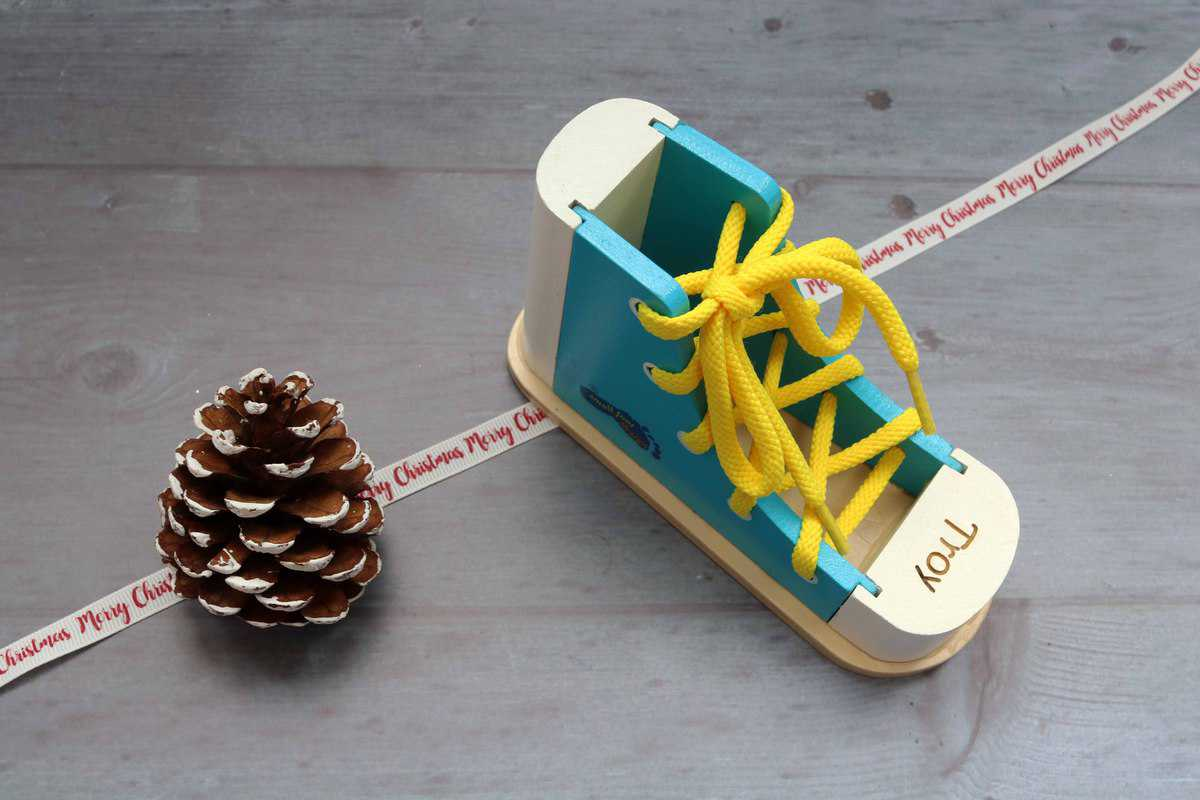 Personalised Wooden Shoe Lacer from The Personalised Gift Shop