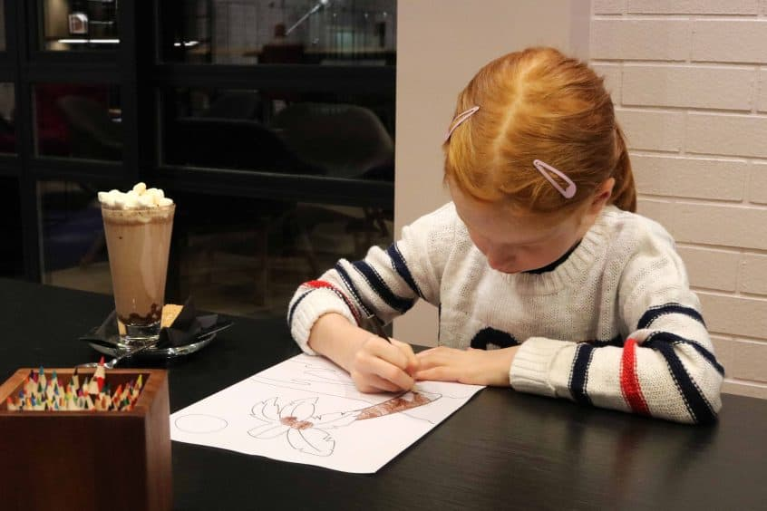 Campanile Birmingham hot drinks and colouring